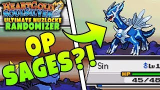 OP SAGE TRAINERS?! | Pokemon Heart Gold Soul Silver RANDOMIZER Ultimate Nuzlocke Soul Link #4