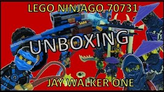 LEGO NINJAGO JAY WALKER ONE 70731 REVIEW & UNBOXING 2015