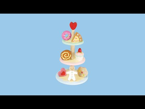 Three Tier Cake Stand | Honeybake© Collection | Le Toy Van | Traditional Wooden