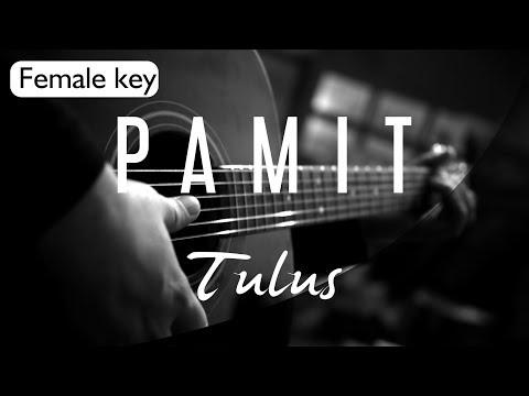 Pamit - Tulus Female Key ( Acoustic Karaoke )