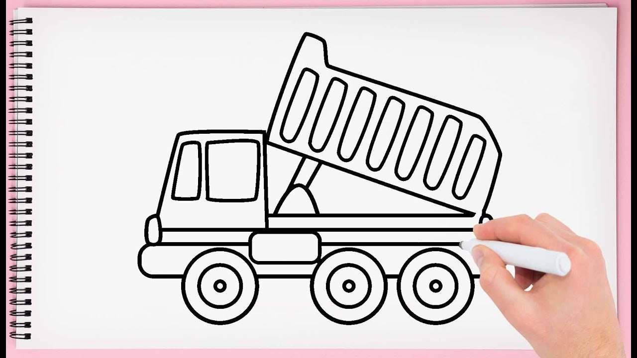 How to Draw Dump Truck Step by Step Learn Easy and Simple ...
