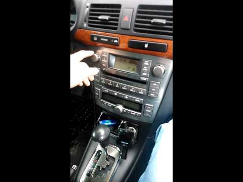 Тест штатной магнитолы Toyota Avensis 2007 2