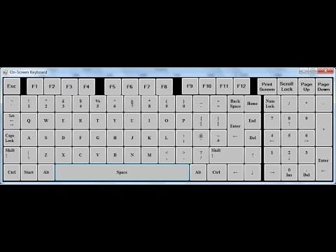 C# Tutorial - How To Create  On Screen Keyboard Using Sendke