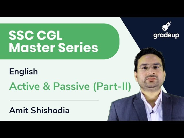 SSC CGL Master Series | English | Active & Passive (Part-II)