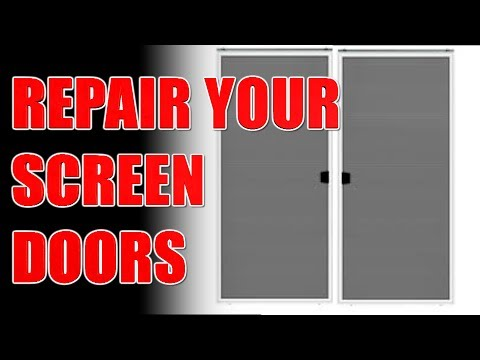 How To Repair A Sliding Screen Door Life Hack YouTube