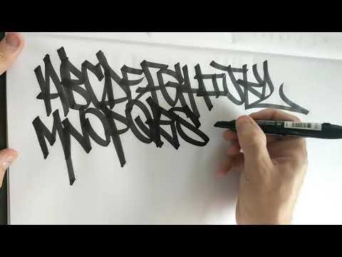 ALPHABET HANDSTYLES - GRAFFITI - @HANDZSOME