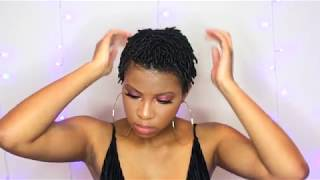 FINGER COILS ON TWA 4C NATURAL HAIR |BeautyWithPrincess