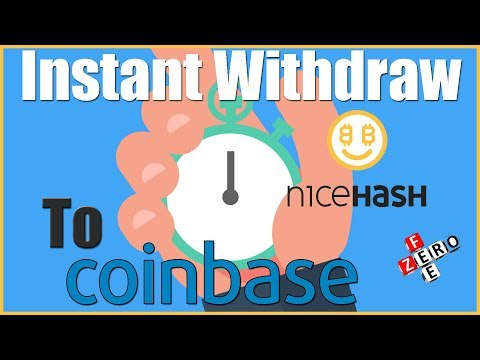 Nicehash to Coinbase - Instant Transaction & Zero Fees Partnership