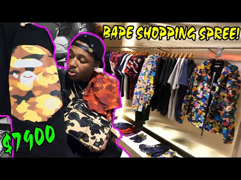 BUYING SOME NEW SH#T! $7900 SHOPPING SPREE IN SNEAKERHEAD HEAVEN! NEW BAPE, NIKE, ADIDAS & MORE!