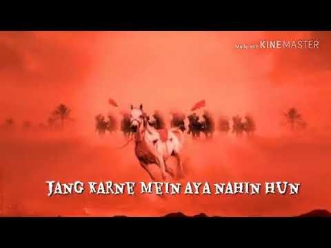 Jung Karne Me Aaya Nahi Ho Kya Nabi Ka Nawasa Nahi Hun WhatsApp Status