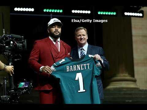 """Weinberg """"Barnett has been working alot with Jason Peters after practice to get better"""""""
