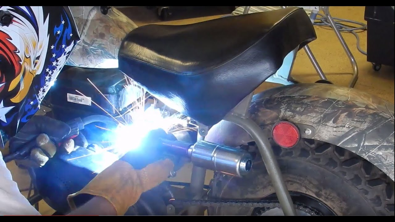 How to Make a Custom Mini Bike Exhaust!!!!!!