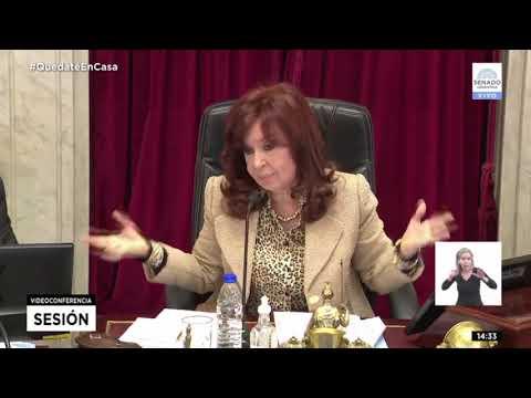 Cristina cruzó a legisladores macristas en el Senado