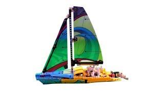 Racing yacht Lego Tehnic  - We play toys