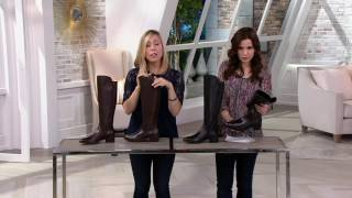 Clarks Artisan Leather Riding Boots - Valana Melrose on QVC