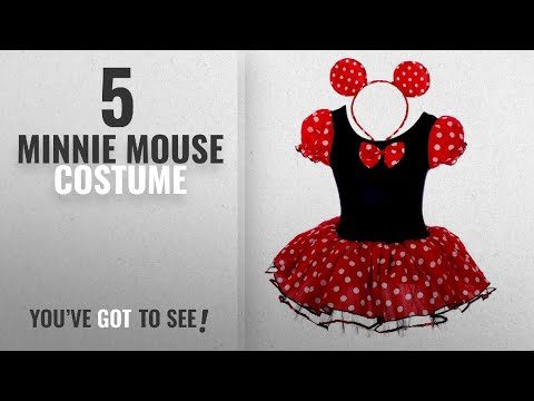 Top 10 Minnie Mouse Costume [2018]: Dressy Daisy Girls' Minnie Mouse Fancy Dresses Dance Costume