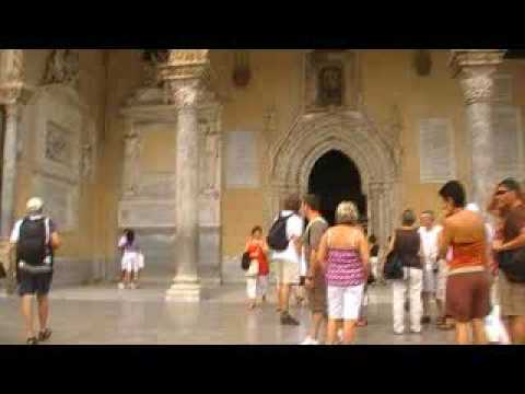 Palermo Cathedral Entrance MOV00E