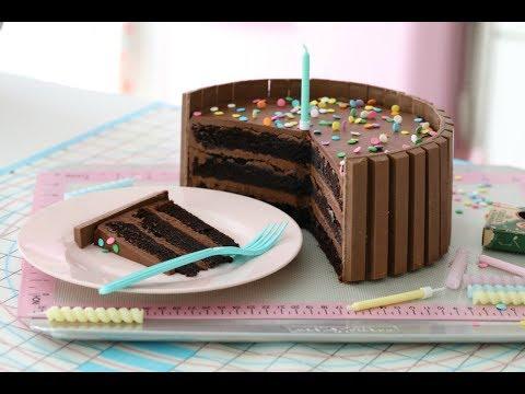 KIT KAT & CHOCOLATE CAKE - HOW TO DO VIDEO