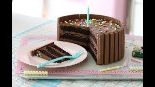 KIT KAT & CHOCOLATE CAKE - HOW TO DO VIDEO