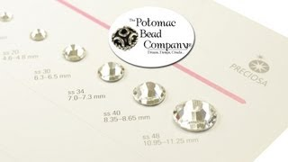 About Preciosa Crystal Rhinestones, Sizes, and SS Stone Size) Conversion Chart