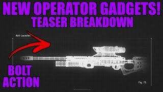 BOLT ACTION SNIPER!- Operation Shifting Tides Operator Gadget Breakdown! | Rainbow Six Siege