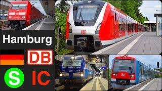 IC, S Bahn in Hamburg