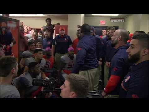 Syracuse coach Dino Babers' postgame speech will have you running through a brick wall