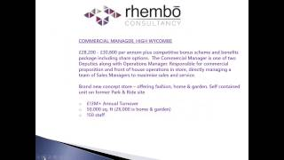 Rhembo Consultancy Job Brief  - Commercial Manager, High Wycombe