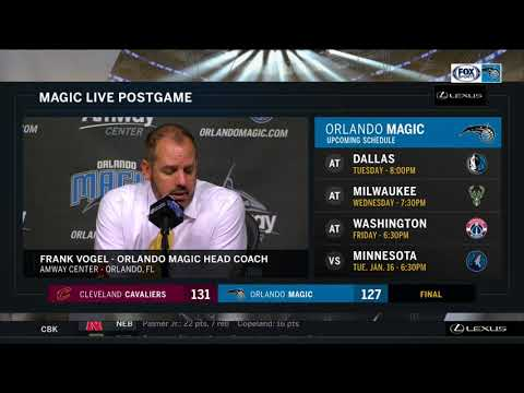 Frank Vogel --  Orlando Magic vs. Cleveland Cavaliers 01/06/2018
