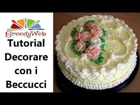 Tutorial decorare con i beccucci la mia torta anniversario greedy youtube - Foto per decorare torte ...