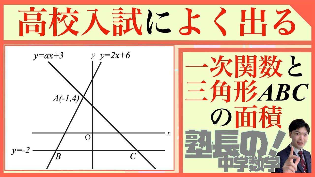 一次関数|x軸より下に交点がある座標平面