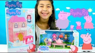 Peppa Pig Toys!! Enchanting Tower 'N Tea Party Playset Toy Reviews|B2cutecupcakes