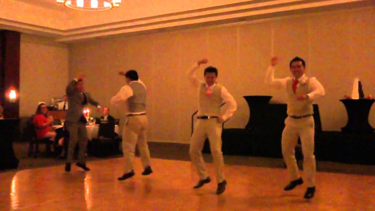 Groomsmen Wedding Dance Jump On It Too Legit To Quit