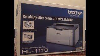 BROTHER HL 1110 LASER PRINTER UNBOXING