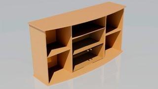 3d моделирование шкафа с полками в AutoCAD