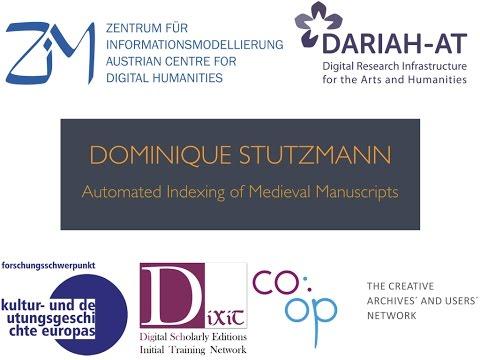 Lunchtime Lecture - Dominique Stutzmann