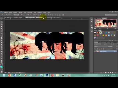 Capa para Facebook The Beatles - Photoshop CS6 CC