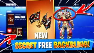 "*NEW* How To Get The ROYALE FLAGS Back Bling in Fortnite! - Fortnite SECRET FREE ""ROYALE FLAGS"" Bag!"