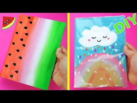 3 Easy DIY Notebooks For Back to school!   How To Decorate Notebook Covers