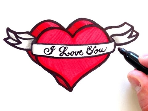 How To Draw 3D Heart