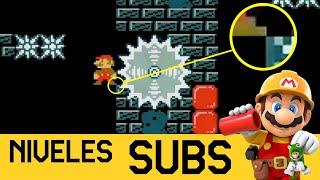 USANDO TODO EL PODER DEL DEDO GORDO DEL PIE 🦶 | NIVELES DE SUBS #7 - Super Mario Maker 2 - ZetaSSJ