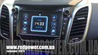 Штатная магнитола redpower 12073 для Hyundai i30 new. Модем 3g навител. смотреть