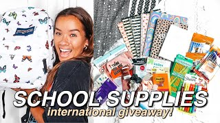 BACK TO SCHOOL SUPPLIES HAUL (FOR YOU!!!) & VLOG | Huge International GIVEAWAY [CLOSED]