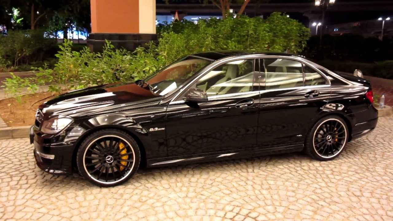 c63 amg v8 mercedes benz all black with yellow break calipers youtube. Black Bedroom Furniture Sets. Home Design Ideas