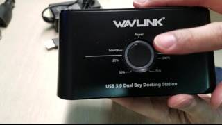 Wavlink USB 3.0 to SATA (5Gbps) Dual-Bay Hard Drive Docking Station For 2.5 inch/3.5 Inch HDD