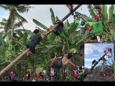 SERU Banget !! Lomba Panjat Pinang Di Sungai || 17 Agustus 2020