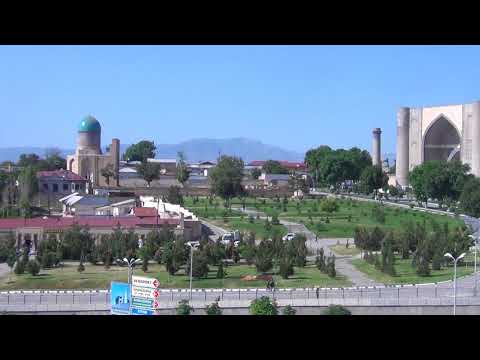View on the Bibi Khanym Mosque Samarkand Uzbekistan May 2015