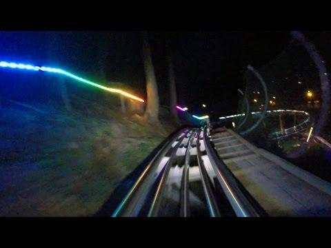 Smoky Mountain Alpine Coaster at night HD POV @60fps
