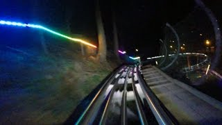 Smoky Mountain Alpine Coaster at night HD POV @60fps