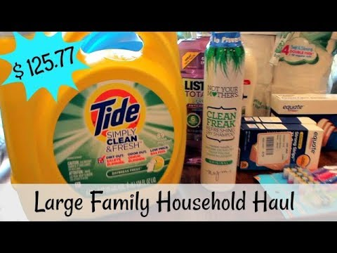 Family of 9 Walmart Household Haul